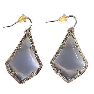 Kendra Scott Gray Dangle Earrings